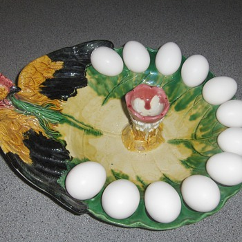 My Chicken Egg Holder Server - Art Pottery
