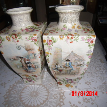 NMy Grandparents Vases!! - Art Pottery