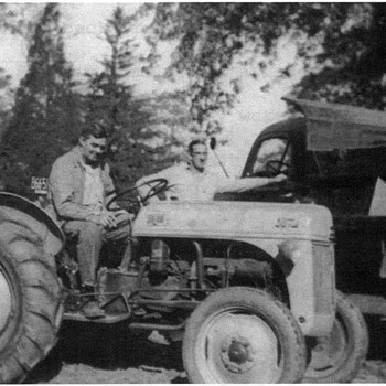 Family Photo - Grandfather on his Ford Tractor - Photographs