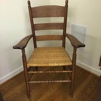 Antique Wood Arm Chair