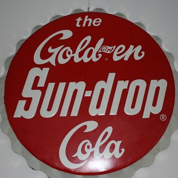 1965 34&quot; Sundrop Bottle cap sign - Advertising
