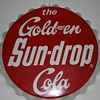 "1965 34"" Sundrop Bottle cap sign"