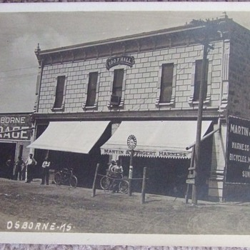 RPPC of Osborne KS street scene  c. 1910 - Photographs