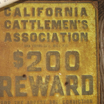 California Cattlemen's Association Antique  - Signs