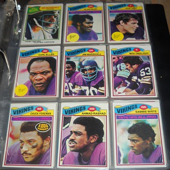 Skol Vikings! 1976-77 Topps Vikings - Football