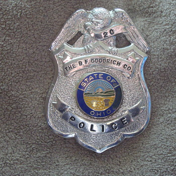 Obsolete BF Goodrich Ohio Plant Police Badge!