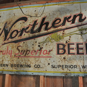 Northern Beer Tin Sign - Breweriana
