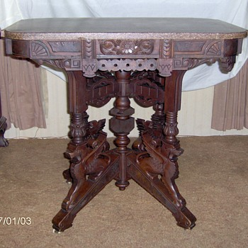 Antique table from Grandmother's house - Furniture