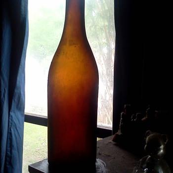 vintage amber bottle? - Bottles