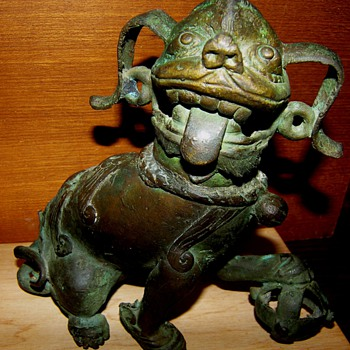 Bronze Shi Shi Lion - Asian