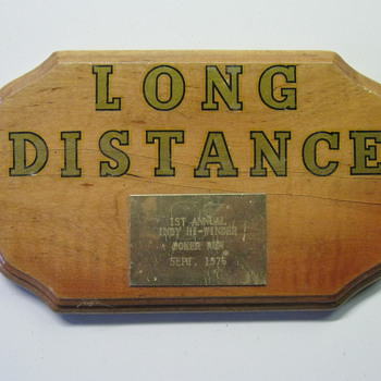 Hey Officialfuel, I Won!  Long distance award! 1976