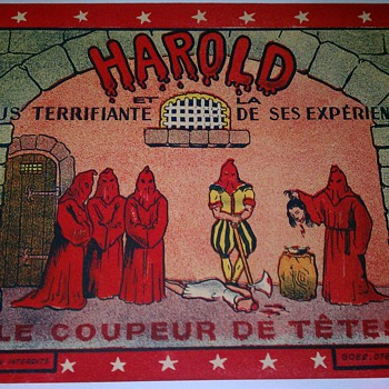 Original &quot;Harold&quot; Stone Lithograph Poster