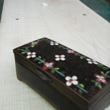 My cloisonne stamp box