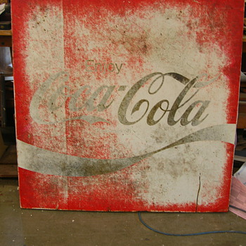 Circa 1980s Coke Sign - Coca-Cola
