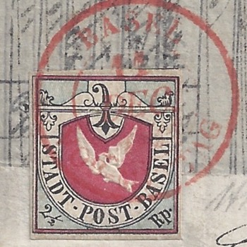 Basel Dove - Swiss Cantonal On cover