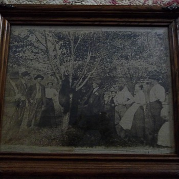 Antique Cloth Picture