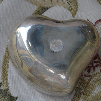 SILVER ART CO. HEART  $1.00 ESTATE FIND