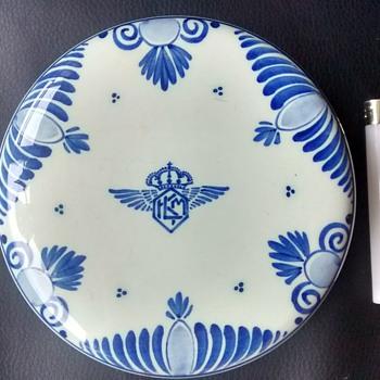 KLM DELFT trinket box - Advertising