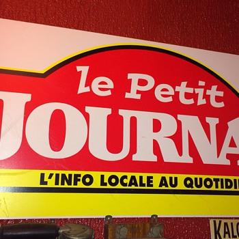 Le petit Journal plaque et mes téléphones Houston et boîtier sonnettes frenches - Signs