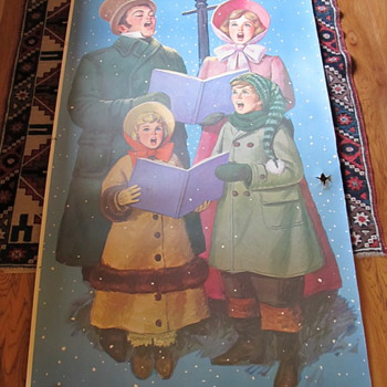 Christmas Carolers Lithograph 50s for Douglas Fir Advertising - Posters and Prints