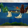 hand painted Mother Of Pearl  Asian Wood Panels