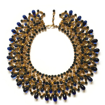 Vintage Max Muller Jeweled Collar - Costume Jewelry