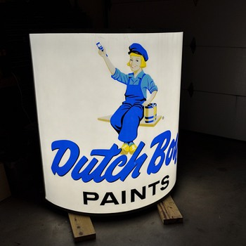 Cool Dutch Boy sign!