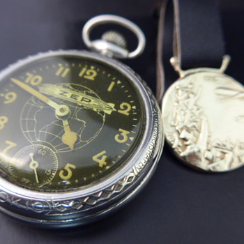 1929 Zep pocket watch & watch fob - Pocket Watches