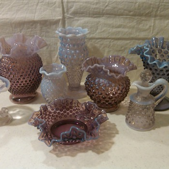 RARE!! FENTON WISTERIA AND VIOLET OPALESCENT PIECES - Glassware