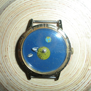 Astro Time Watch,  Apollo 11 pin, Moon Rock and Stickers