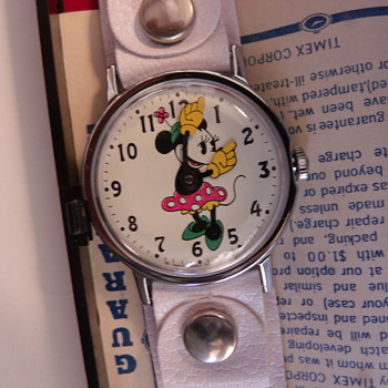 "1971 Nos ""MOD"" Minnie Mouse Wrist Watch - Wristwatches"