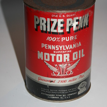 prize penn quart oil can