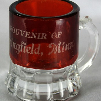  Ruby Flash Glass Souvenir Mug - Glassware