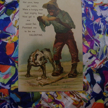 ODDEST VALENTINE POSTCARD EVER! c.1906 Mailed in 1909, Signed art Greiner