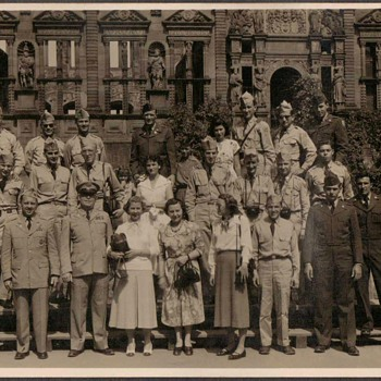 1954 - U.S. Army group at Heidelberg Castle
