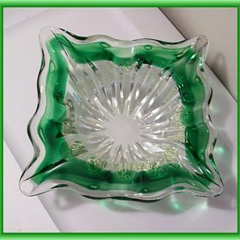 ART GLASS  ( Ashtray ) -- ? Murano ?