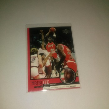 Upper Deck # 1 card Tribute To Micheal Jordan - Basketball