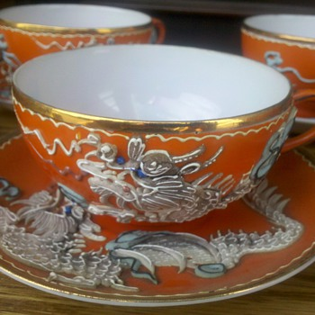 Mystery Dragonware Coffee  Set for Six - China and Dinnerware