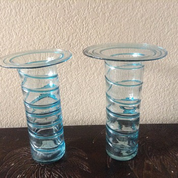Hand blown vases - Art Glass