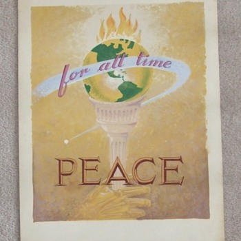 WW2 Peace for all Time Artwork c. 1945 - Military and Wartime