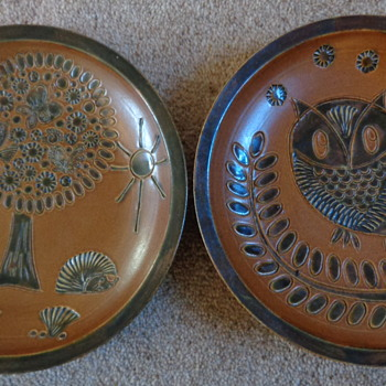 my two stoneware plates - Art Pottery