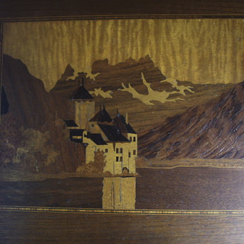 "Genuine Inlaid""Lake Geneva""Castle de Chillon""1900 - Visual Art"