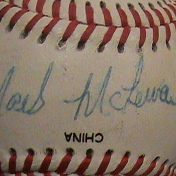 A SIGNED BALL BALL - Baseball