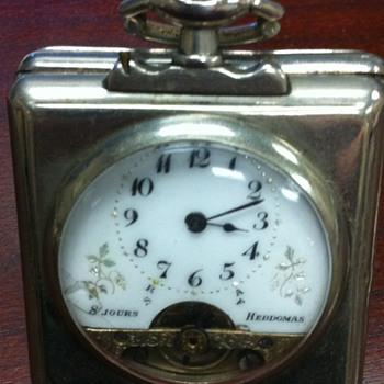 Hebdomas 8 day travel clock - Clocks