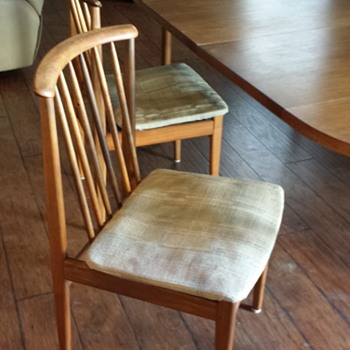 DUX swedish mid-century dining room set