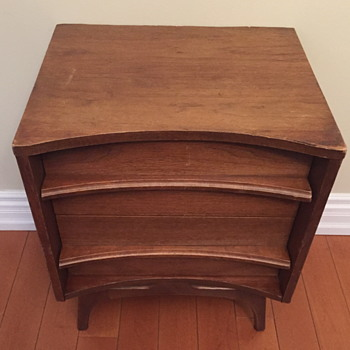 Mid century modern side table. 19??