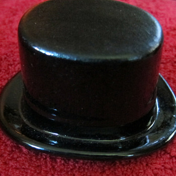 Vintage Ceramic Salesman Sample Black Top Hat - Cavanagh - Hats