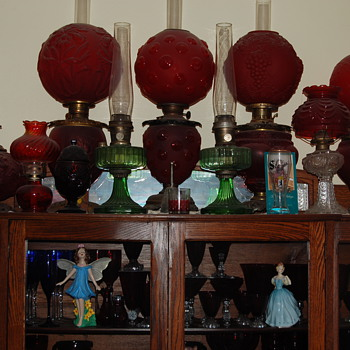 Just a few of my oil lamps...