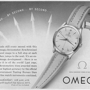 1953 - Omega Synchrobeat Watch Advertisement