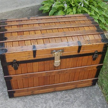 Antique Excelsior Slat Trunk
